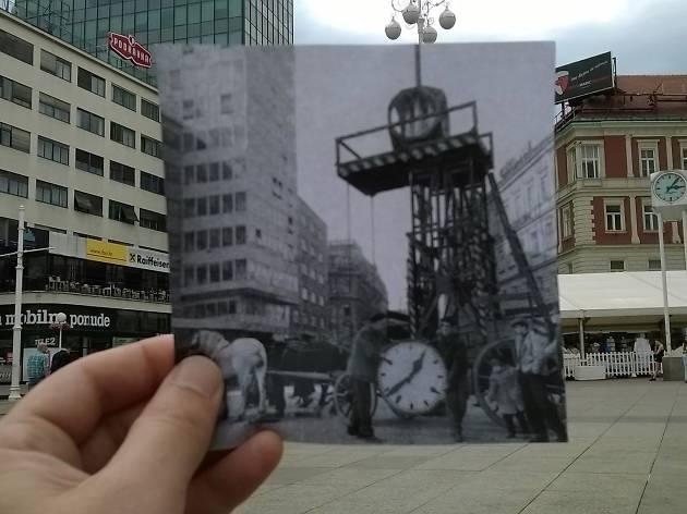 Main square in 1960 (Trg bana Josipa Jelačića)