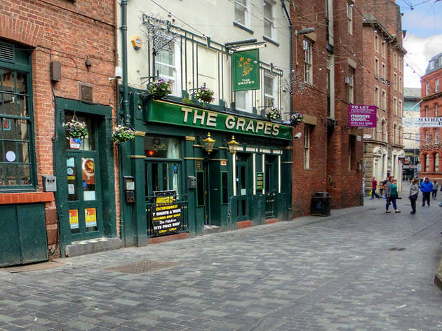 The exterior of the Grapes in Liverpool