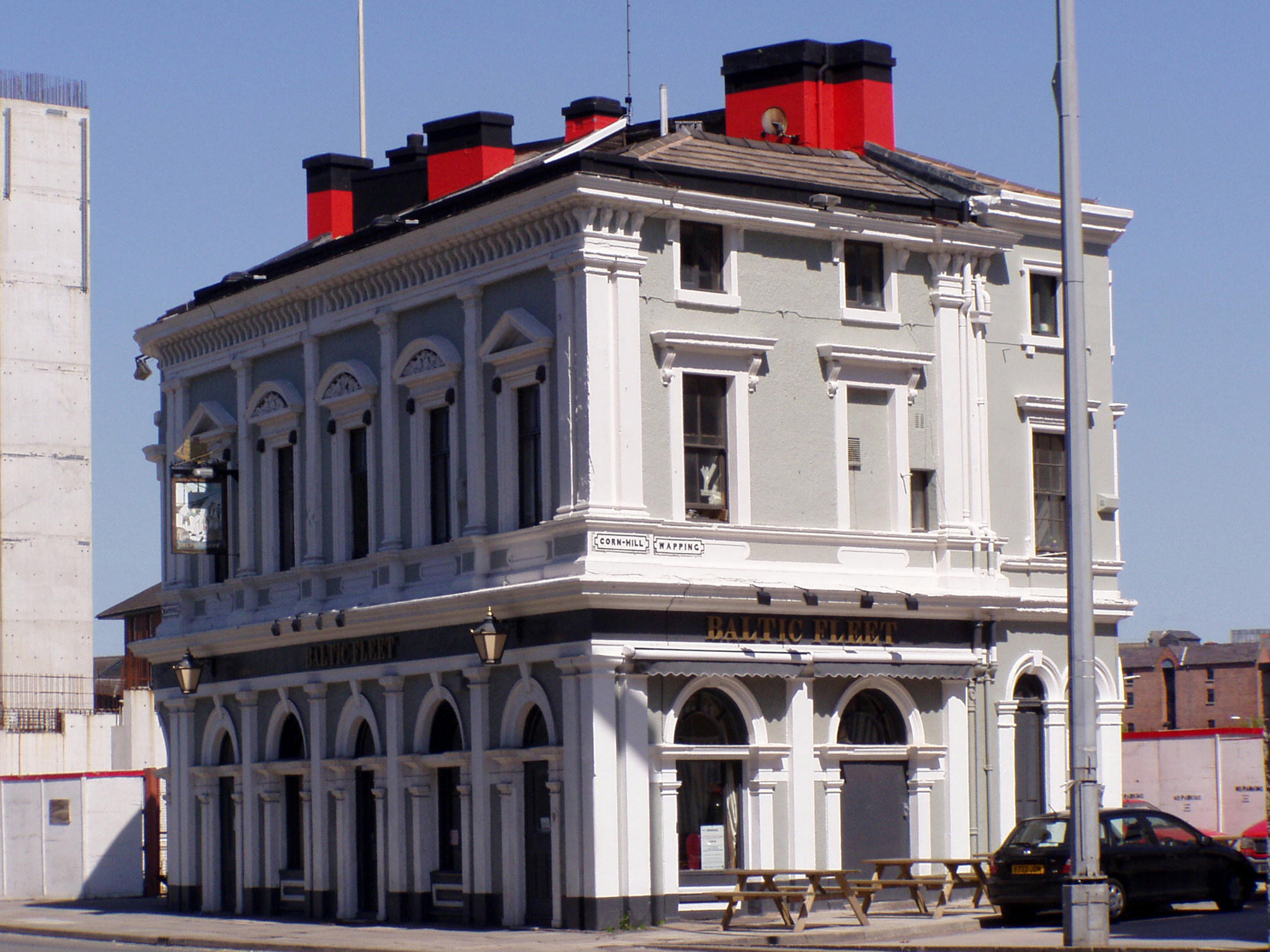 The exterior of the Baltic Fleet in Liverpool