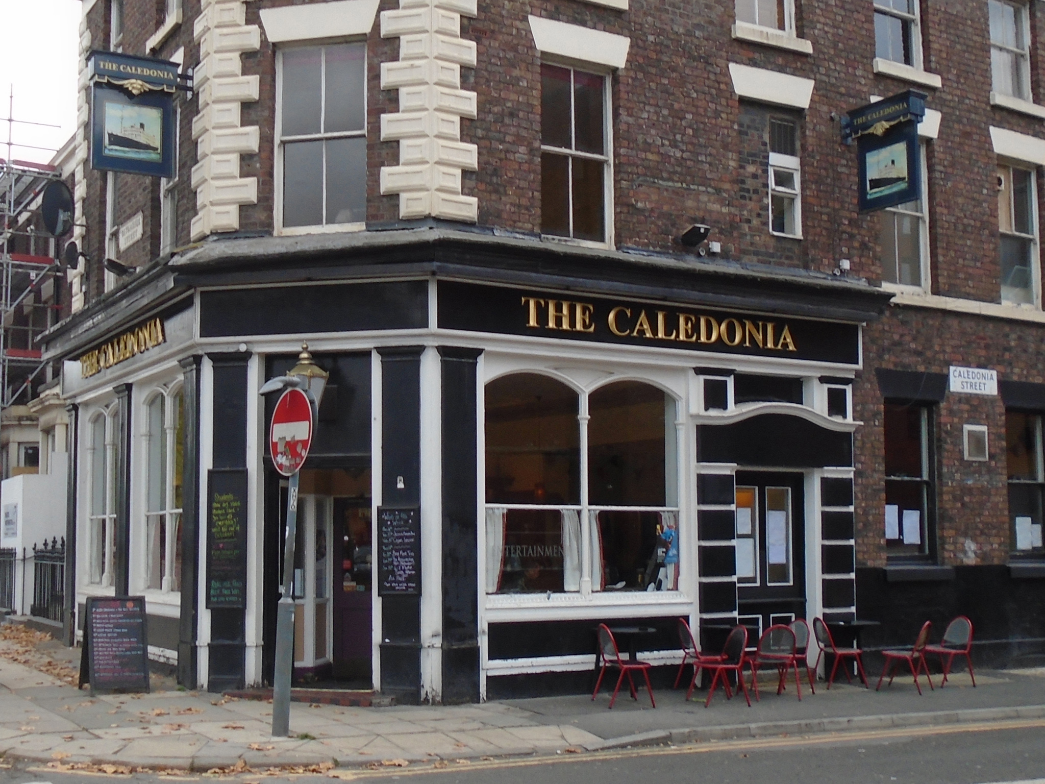 The exterior of the Caledonia in Liverpool