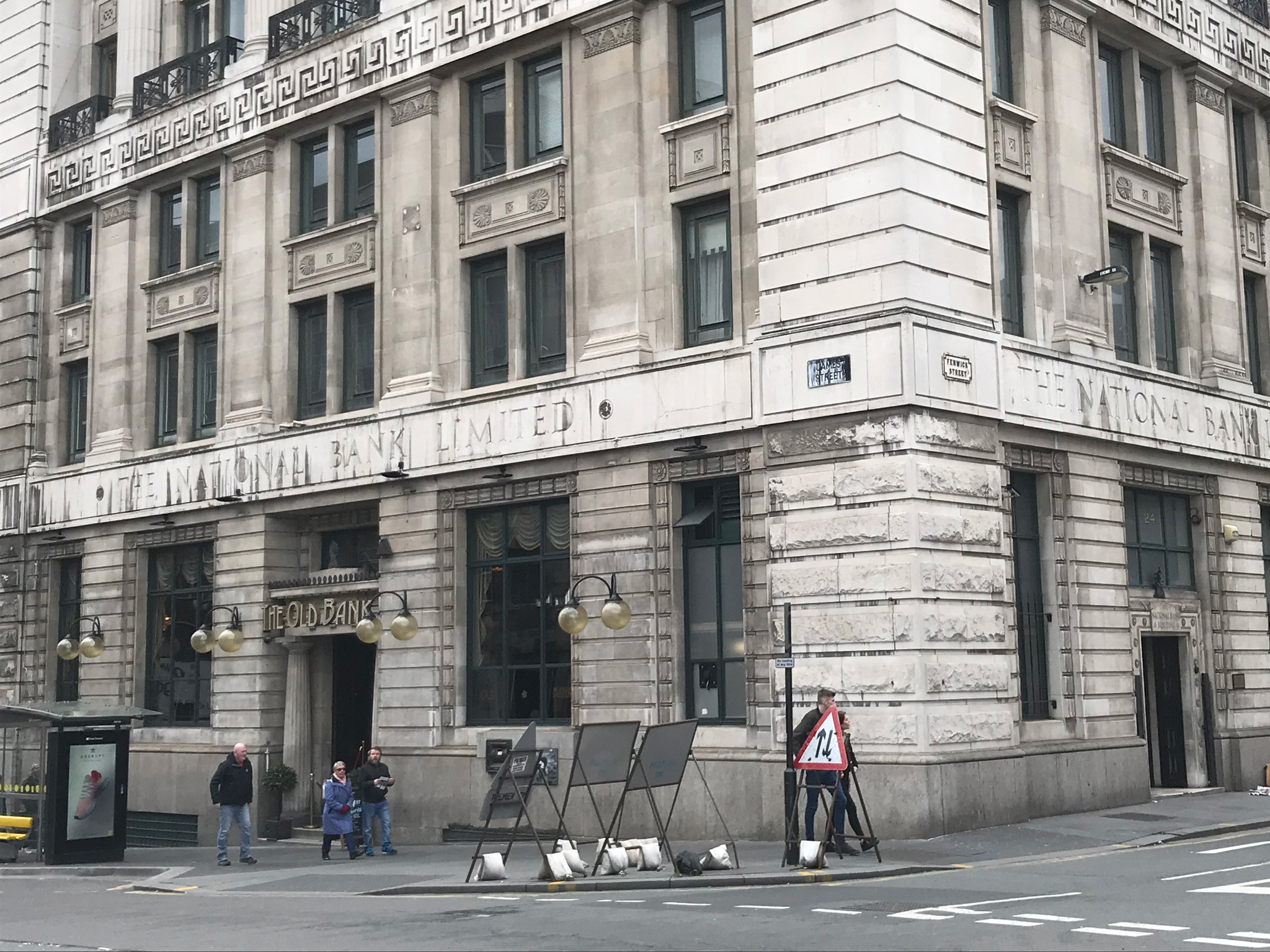 The exterior of the Old Bank in Liverpool
