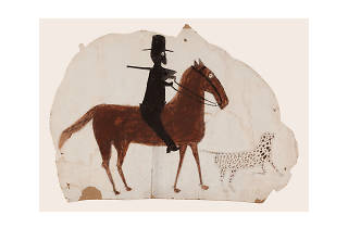 Bill Traylor, Hunter on Horseback with Spotted Dog, 1939-1942