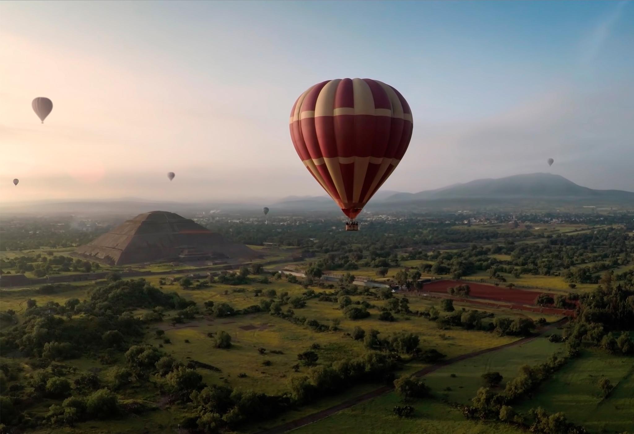 Vuelo en globo en Teotihuacán