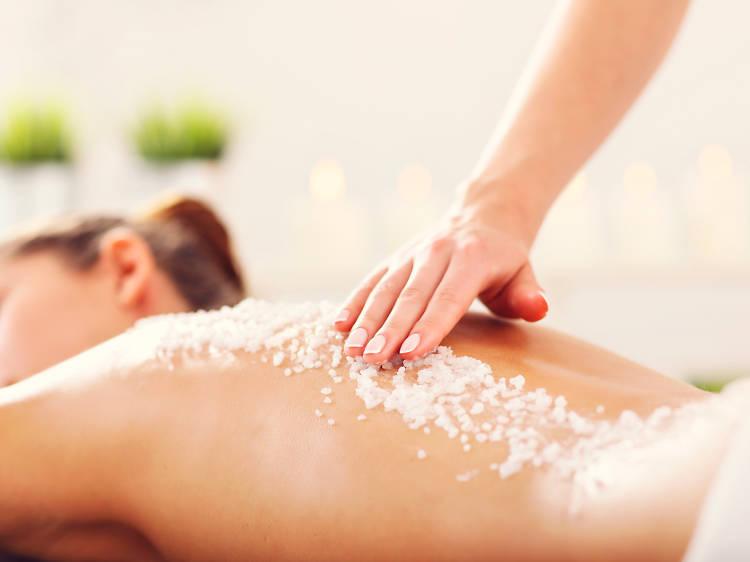 Day Spa con masaje y relajación