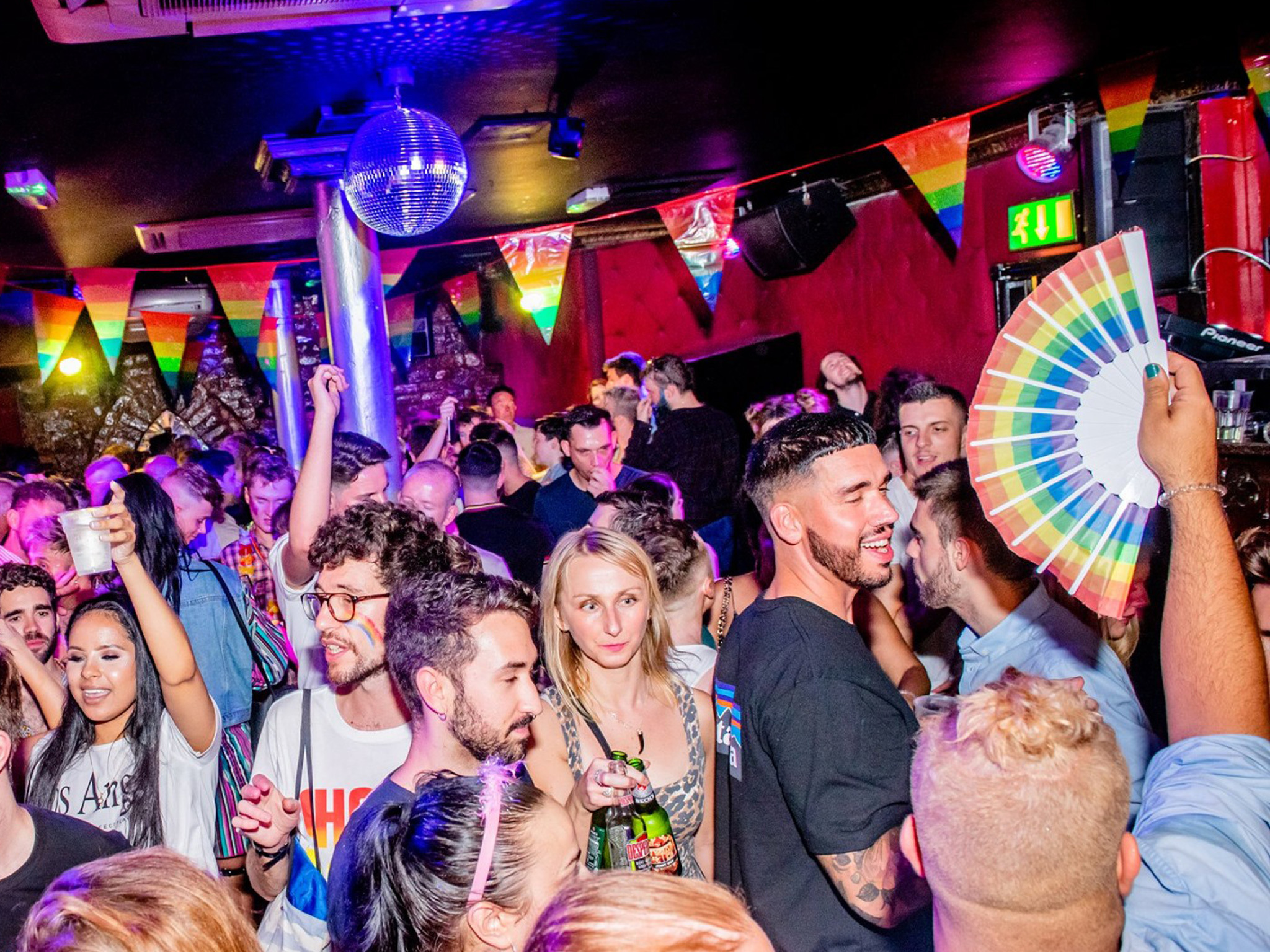 A crowd at GBar in Liverpool