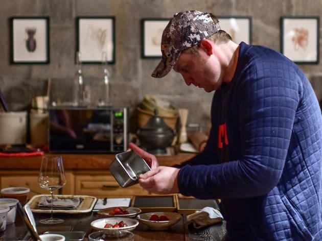 Joshua Skenes tasting menu LA house