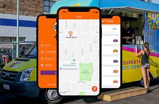 Snack tracker app on food truck image