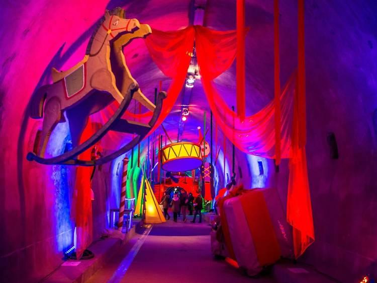 Visit a secret tunnel