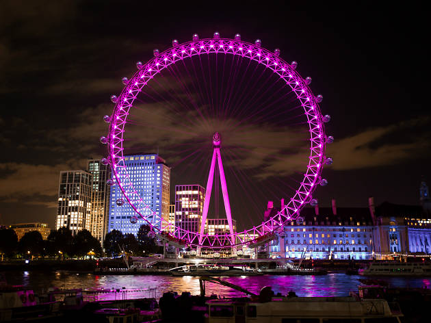 The London Eye is turning pink in 2020 (at night, anyway)