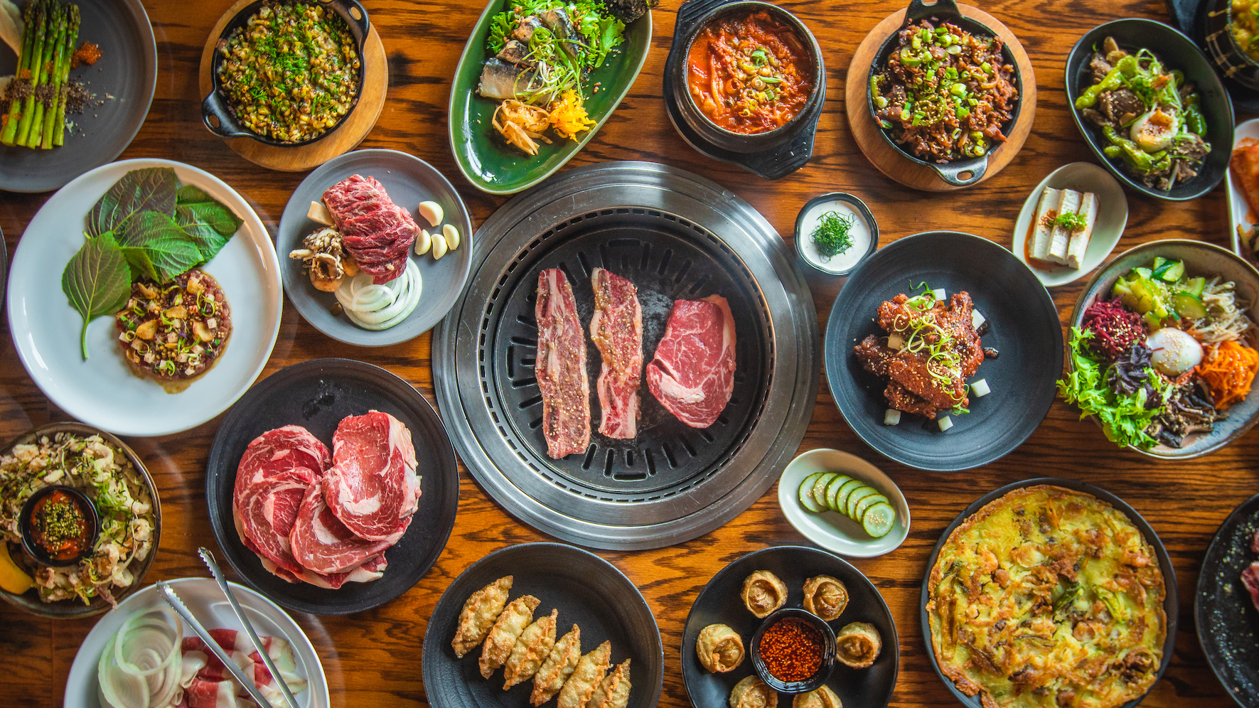 Try your hand at Korean barbecue at easy-going Perilla in River West