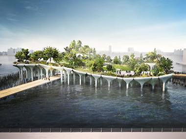 A floating park called Little Island is coming to the Hudson River