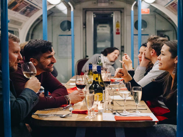 10% off a Victoria line tube train dining experience