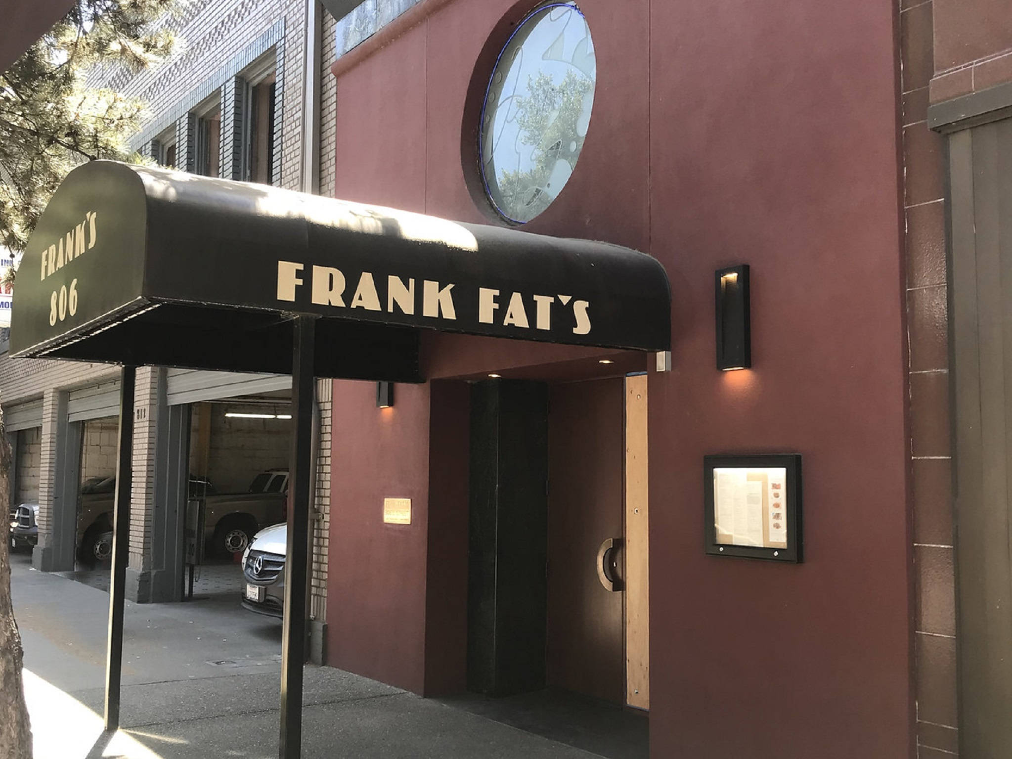 The awning and outside of Frank Fat's