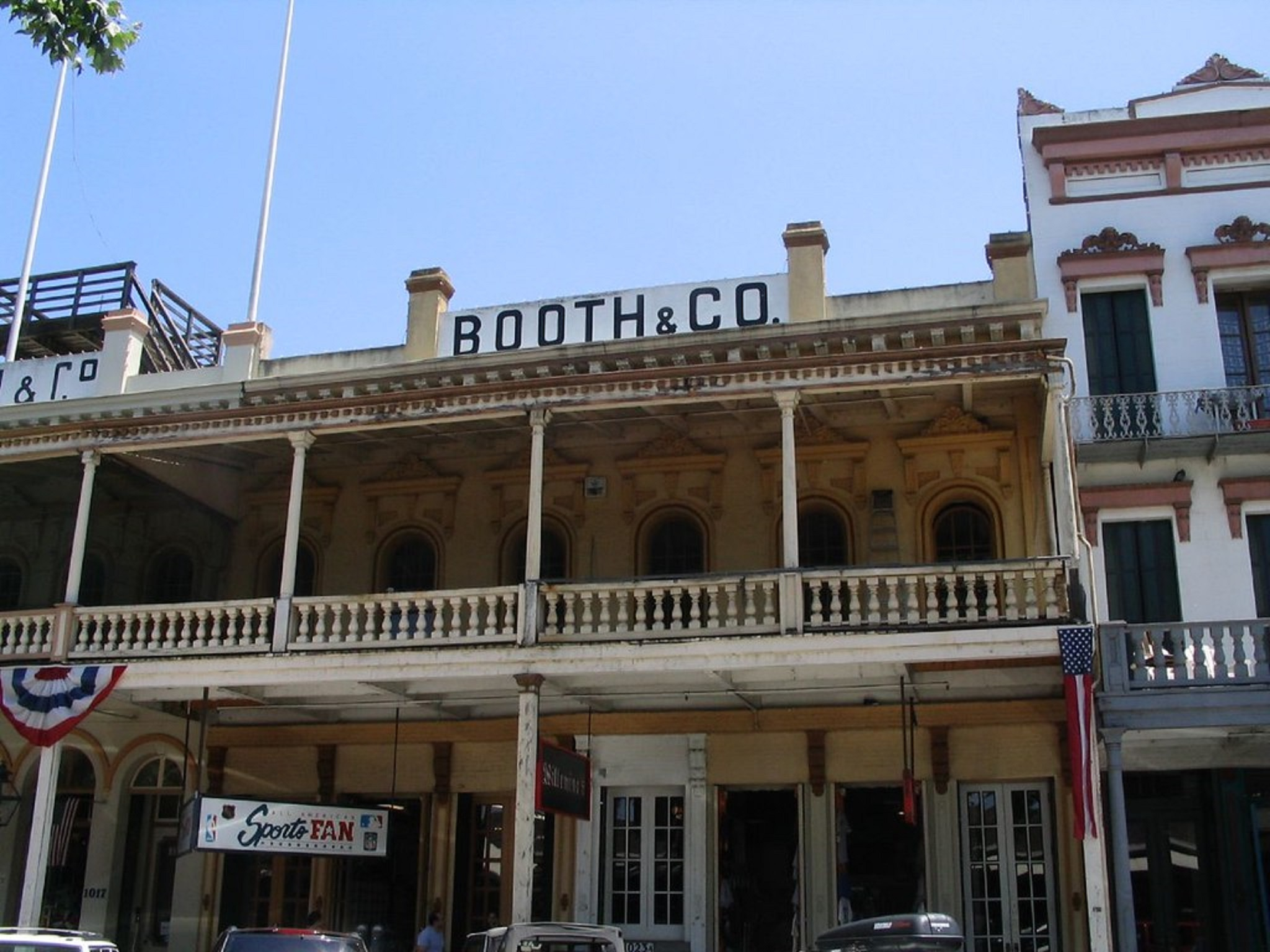 Historic storefronts in Old Sacramento
