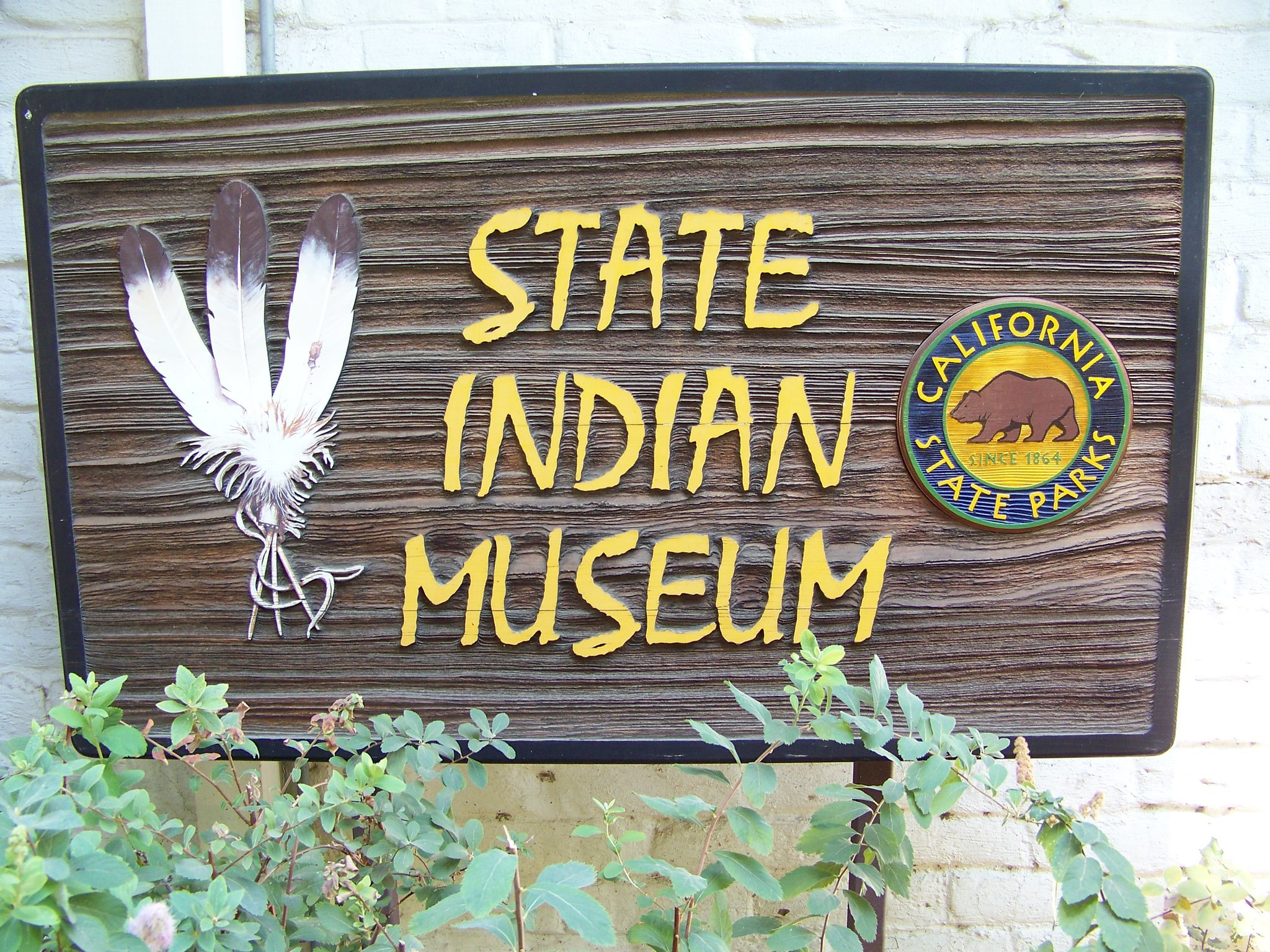 The sign for the State Indian Museum
