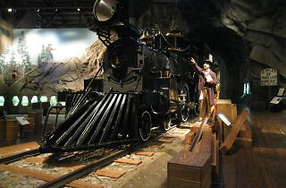 A steam engine at the Railroad Museum