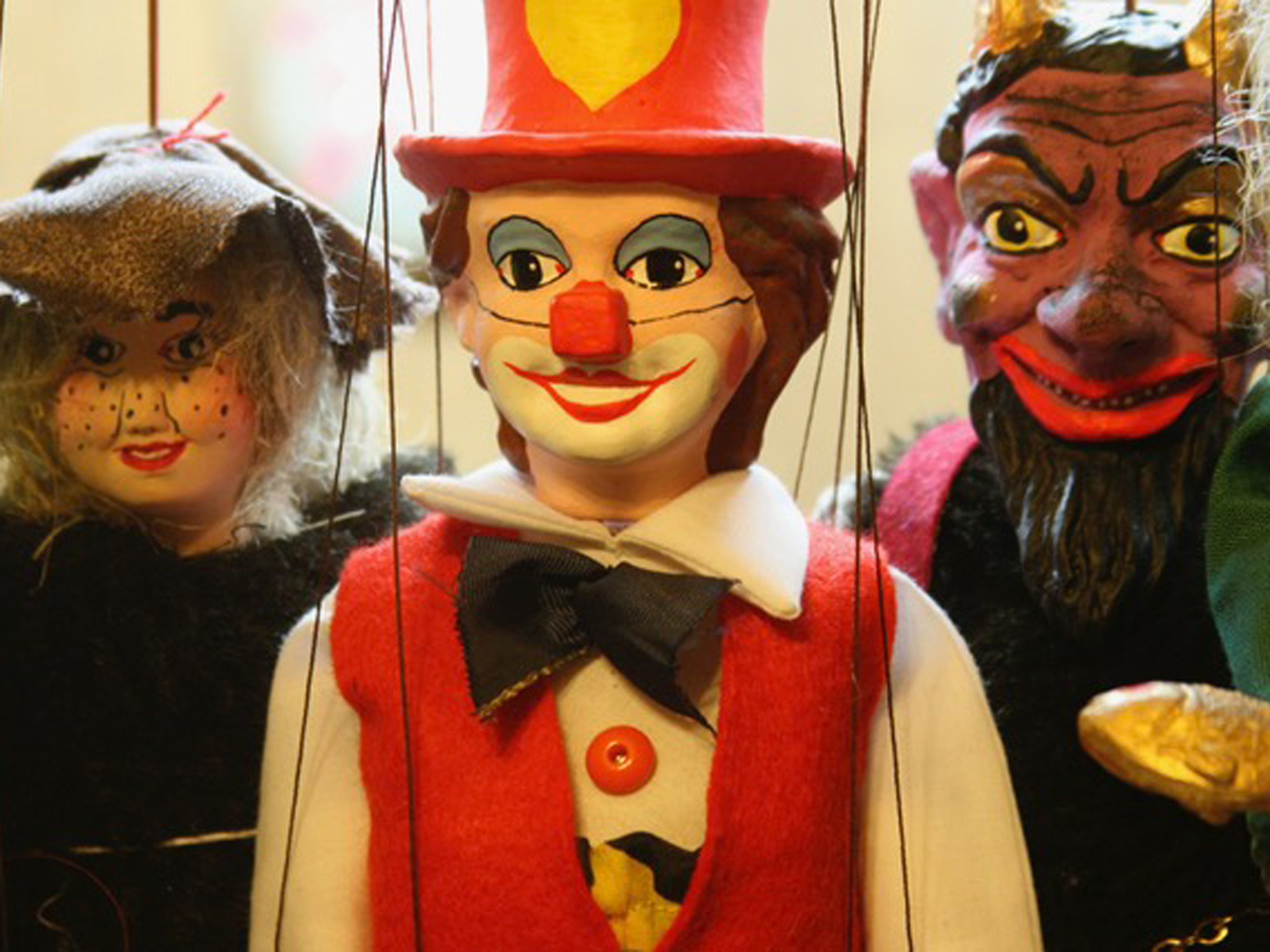 String puppets at Rocking Horse Toy Shop