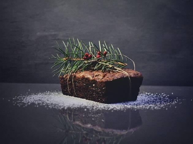log cake, christmas