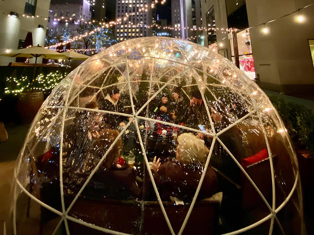 City Winery debuts two igloos at Rock Center for all your holiday drinking