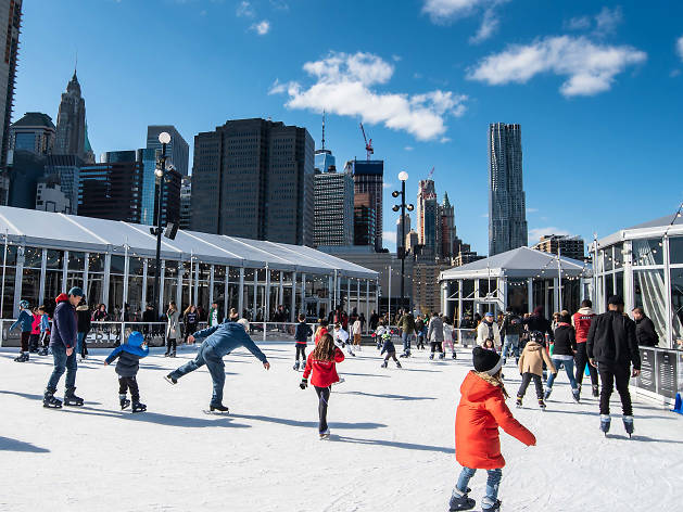 A rooftop ice rink is opening right next to the Brooklyn Bridge