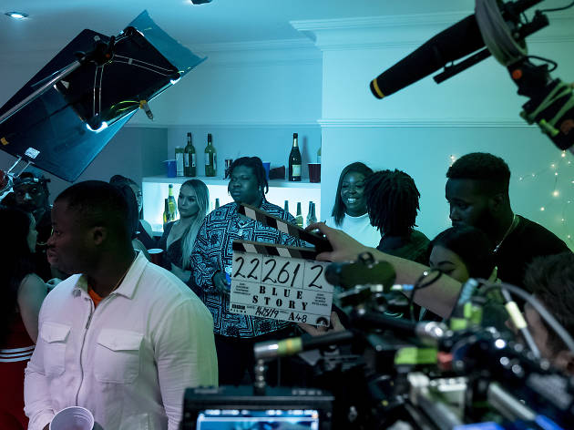 A behind the scenes image from the film Blue Story