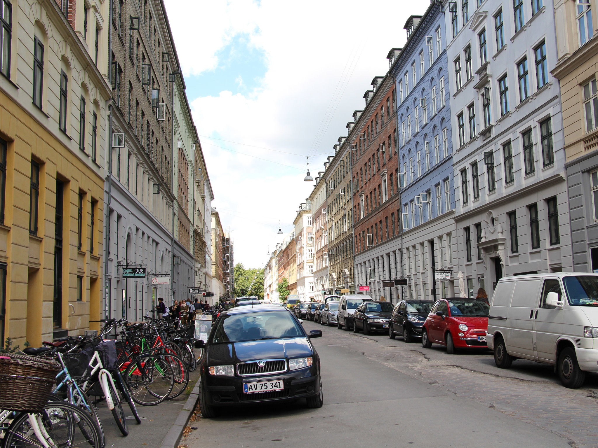 Jaegersborggade in Norrebrø in Copenhagen