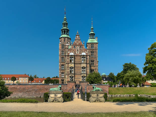 The exterior of Rosenborg Castle in Copenhagen