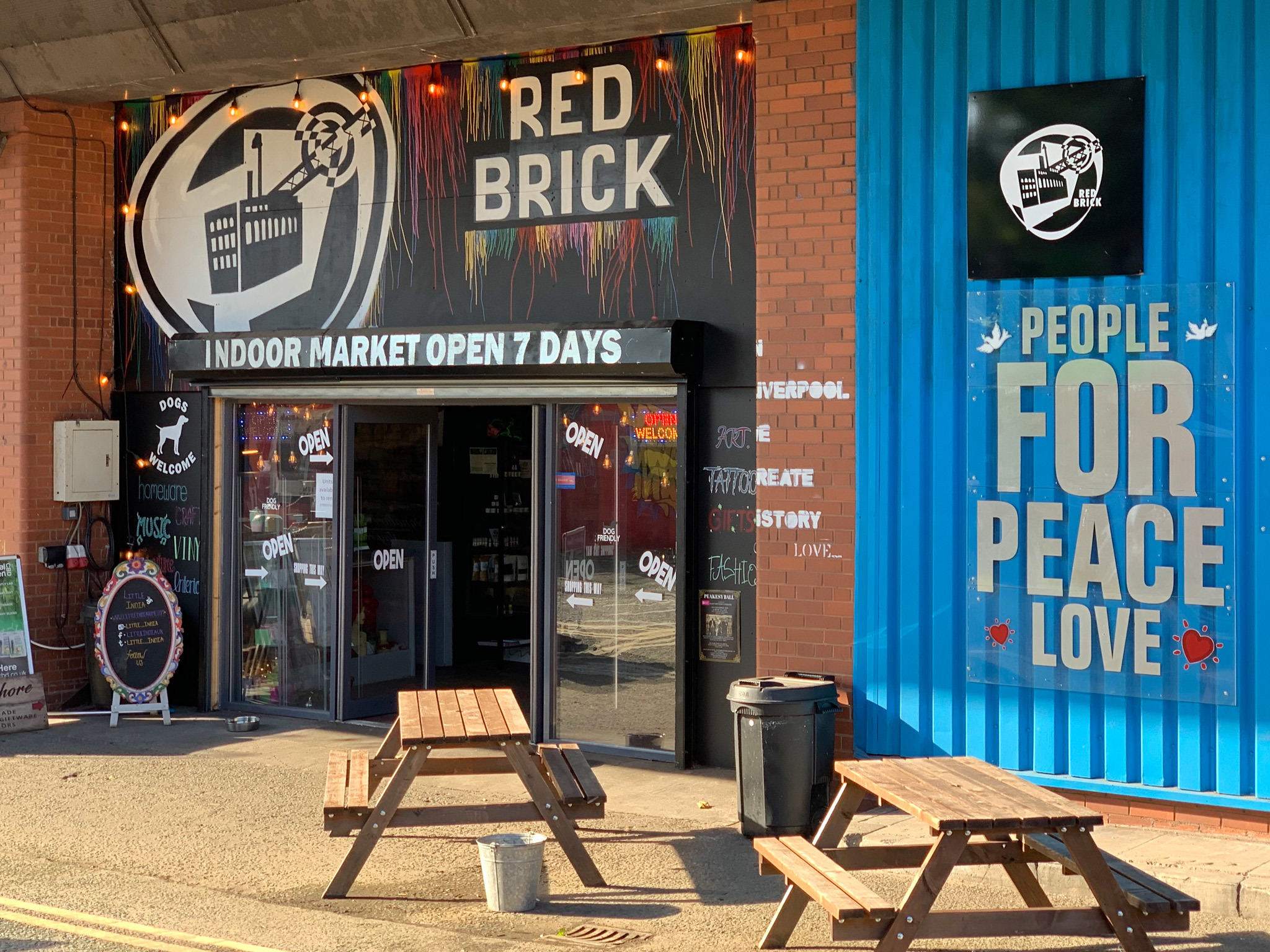 The exterior of Red Brick Market
