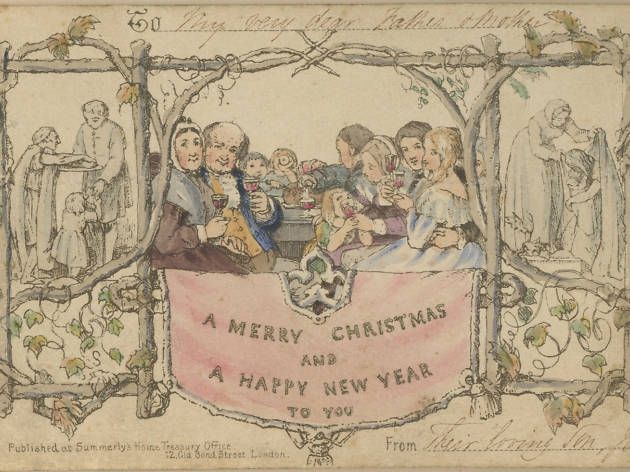 The world's first Christmas card is now on display in London