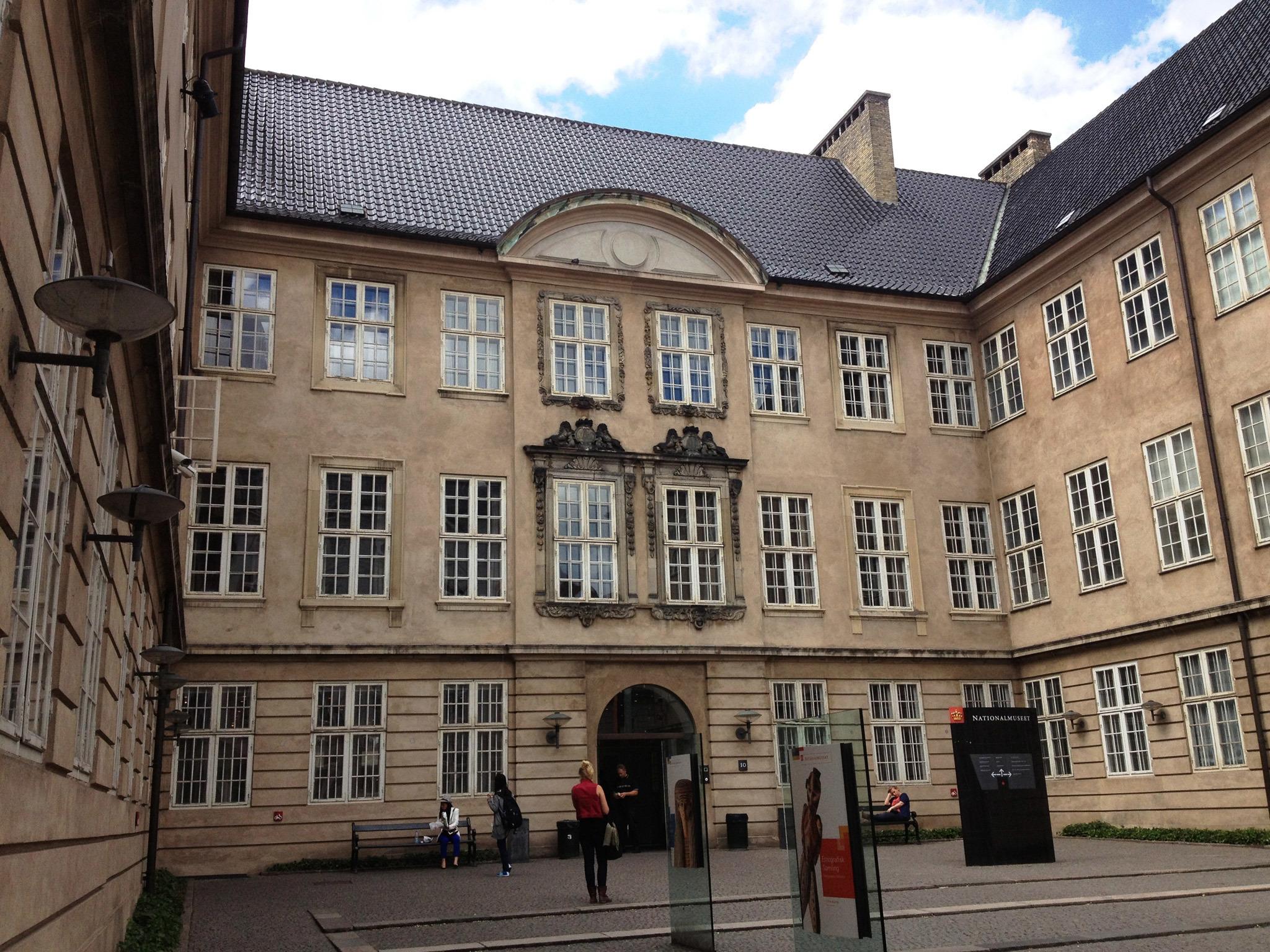 The exterior of Nationalmuseet in Copenhagen