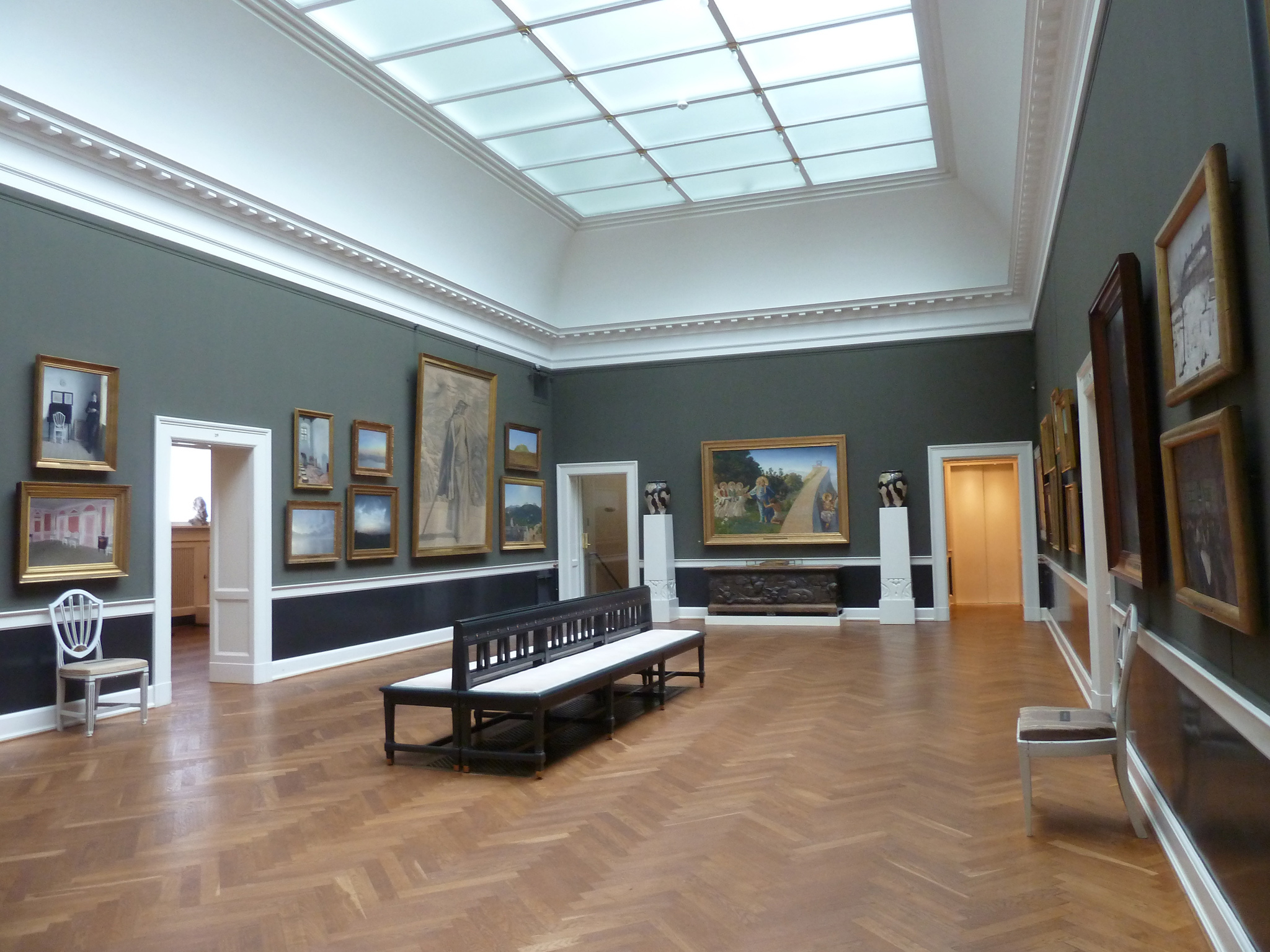 An exhibition room at the Hirschsprung Collection