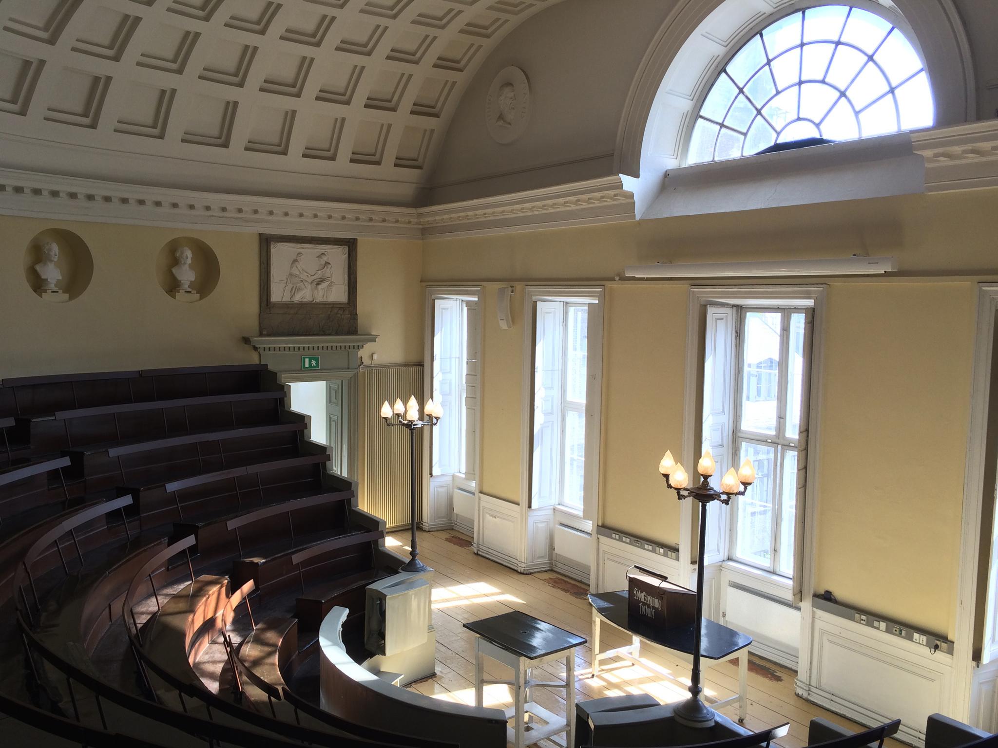 The auditorium at the Medical Museion in Copenhagen