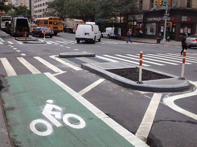 Bike Lane In NYC on First Avenue