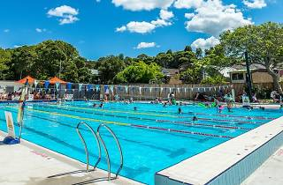 People in the pool at Fanny Durack Aquatic Centre.