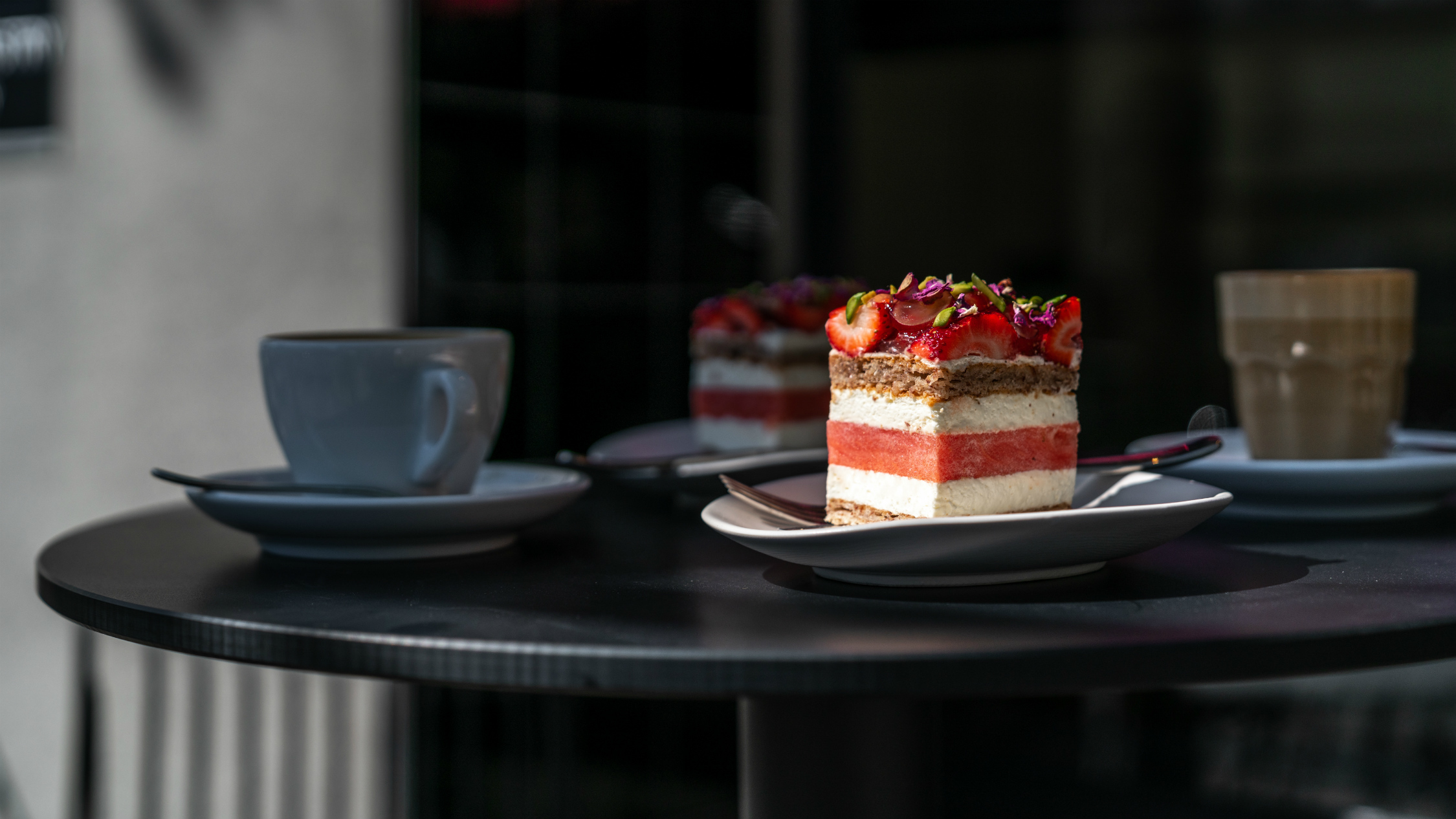 Black Star Pastry's strawberry watermelon cake on a table