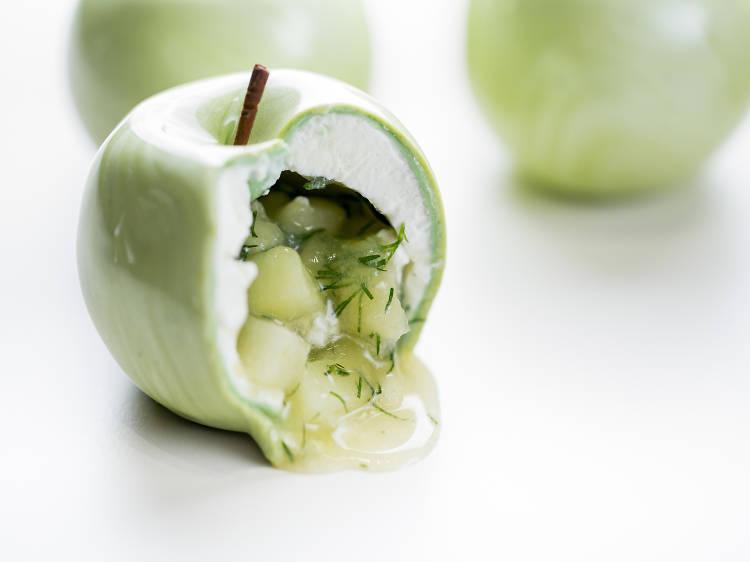 La pomme Granny Smith de Cédric Grolet (Pâtisserie du Meurice)