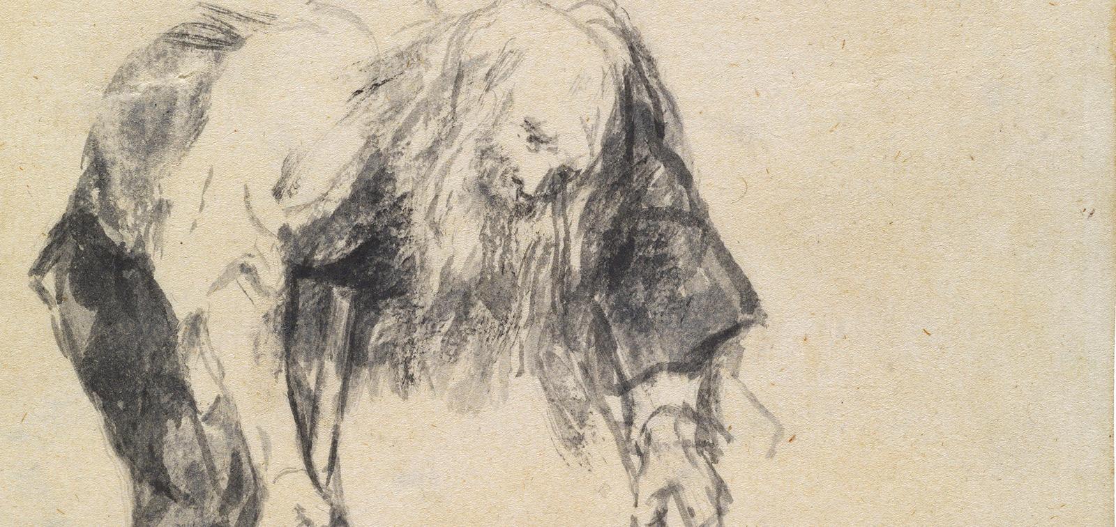 """Goya. Dibujos. """"Solo la voluntad me sobra"""""""