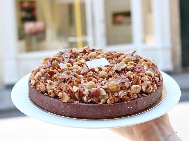 La tarte au chocolat pralinée de Gâteaux d'émotions
