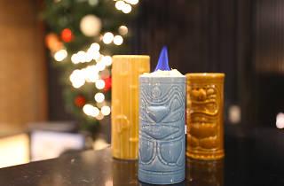 Christmas tiki bar LA Double Take Hotel Palomar