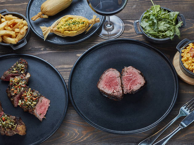 A three-course steak dinner with sparkling wine at Gaucho