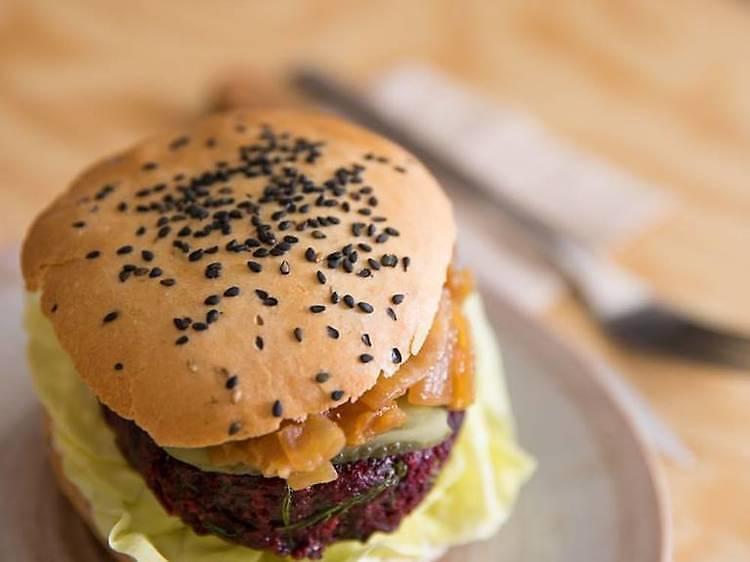 Le tofu burger d'Otium