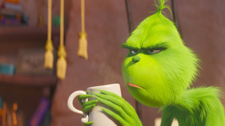 A still from the animated version of The Grinch