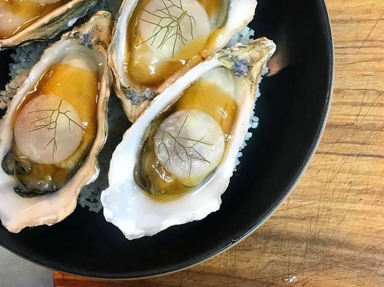 Les huîtres en gelée de Quinsou