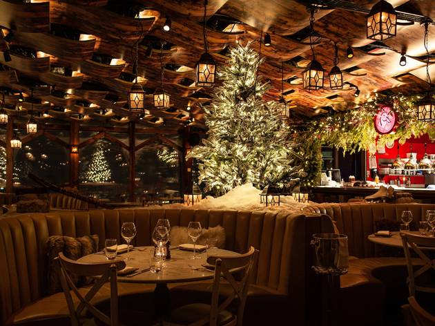 London's 24-hour restaurant Duck & Waffle has had a magical alpine makeover