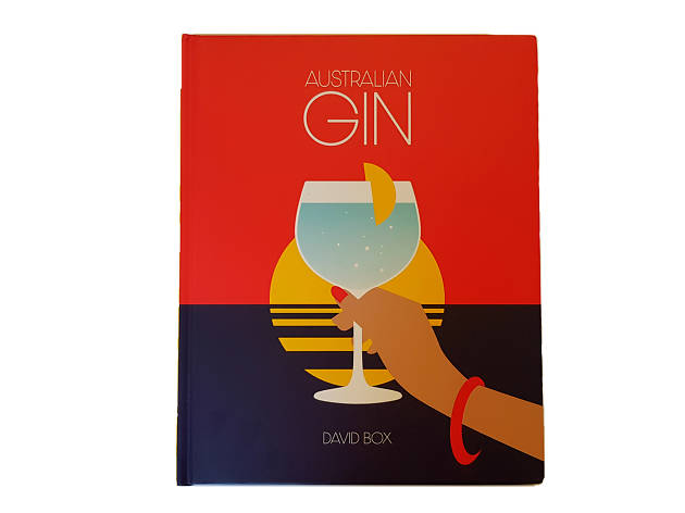 A book with a sunset that says Australian gin