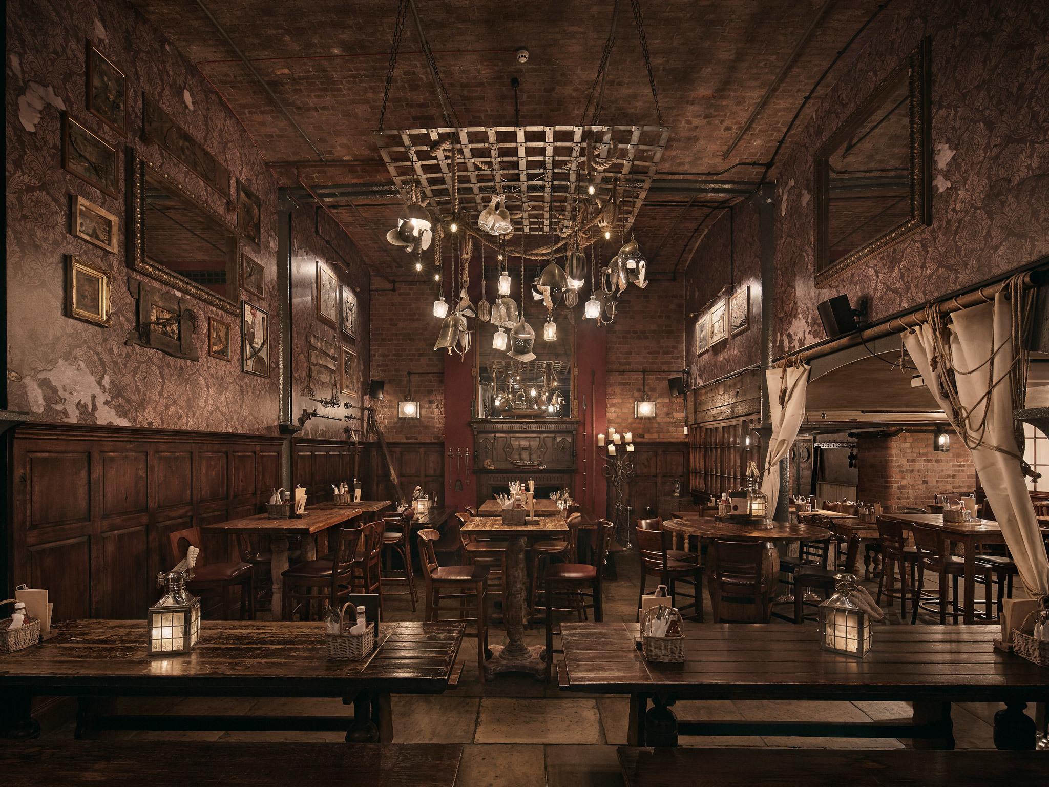 The interior of Smuggler's Cove in Liverpool