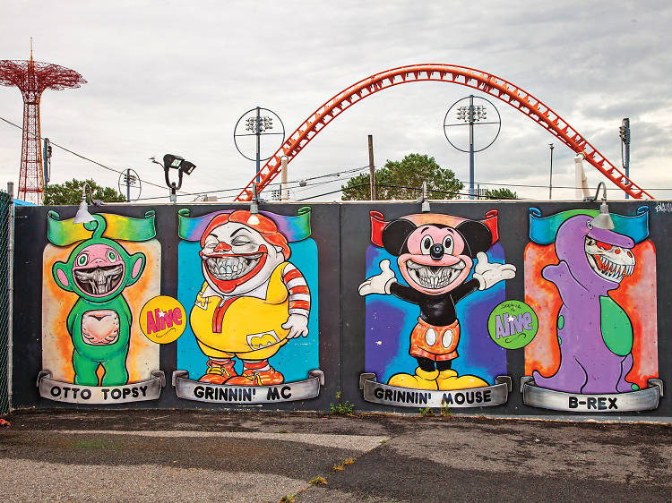 Walk around and take in impressive street art