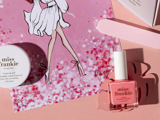 Pink Miss Frankie nail polish