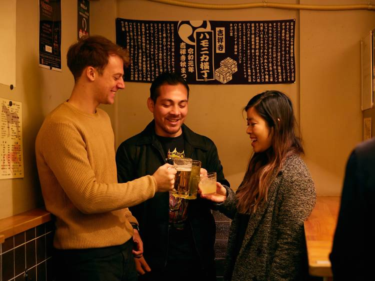 Local Bar Hopping in Kichijoji's Harmonica Yokocho