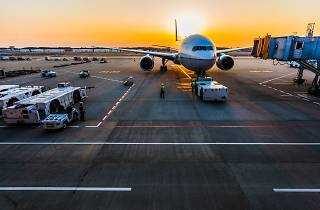 Stock image of an airport